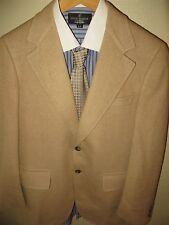 Bergdorf Goodman Cream Herringbone 100% Cashmere Blazer Sport Coat Jacket 40 Reg