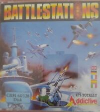 Battlestations (Addictive 1988) C64 Diskette (Box, Manuals,Disk) 100 % ok