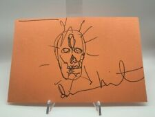Damien Hirst Signed Sketch Drawing Skull VERY RARE Authentic ART AFTAL OnlineCOA
