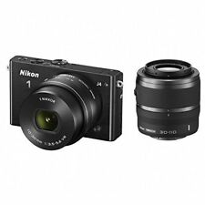 Near Mint! Nikon 1 J4 with 10-30mm PD and 30-110mm VR Black - 1 year warranty
