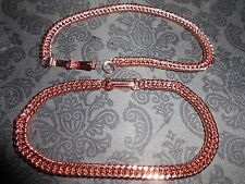 Bracelet, Copper, 7 inch long Double Curb 5 mm Chain, with Fold Over Clasp.