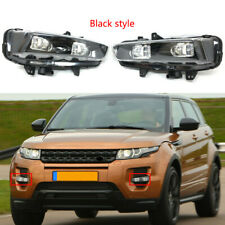 Fit For 2013-15 Range Rover Evoque Front Bumper Left&Right Black Fog Lights Lamp
