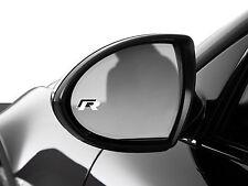 2x Audi R-line Side Mirror Emblem Logo Sticker Badge Passat Golf CC Toureg Jetta