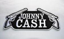 Johnny Cash, patch, xl, dos un écusson, badge, aufbügler, rockabilly, on in Black