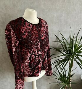 Womens Joseph Ribkoff Size 14 Sequin Bomber Jacket Stricking Occassion