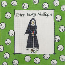 Needlepoint Canvas Hand Painted Maggie Sister Mary Mulligan