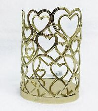 Bath Body Works GOLD HEART Soap Sleeve Holder Lotion Gel Decor VALENTINE GIFT