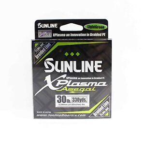 Sunline Asegai Xplasma Braided Line 330yds P.E 3 30lb Light Green (6797)