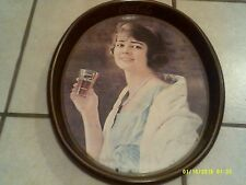 "1923 COCA-COLA TIN LITHO ADVERTISING SERVING TRAY ""FLAPPER GIRL"" COKE TRAY"