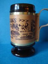 New listing 12oz Amber Glass Wood Wrapped Wood Handle New Orleans Mug