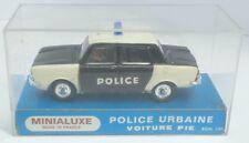 Minialuxe 1/43 Simca 1000 Police urbaine (luz azul, negra pegatinas) - en su embalaje original