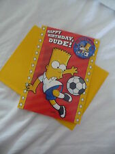 JOB LOT 5 X BART SIMPSON / THE SIMPSONS BIRTHDAY CARD, BADGE AND ENVELOPE