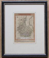 Antique Map of Somersetshire James Wallis c1810. Old Bath, Bristol, Somerset.