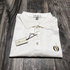 Peter Millar Crown Ease Sport White Cotton Golf Polo Shirt Size XL NWT