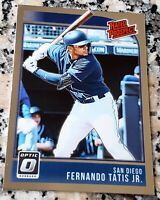 FERNANDO TATIS JR 2018 Donruss RATED Prospect Rookie Card RC Padres HR $$ HOT $$
