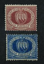 CKStamps: Italy Stamps Collection San Marino Scott#13 14 Mint H OG