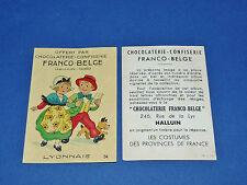 CHROMO CHOCOLATERIE FRANCO-BELGE HALLUIN NORD COSTUMES FRANCE LYONNAIS