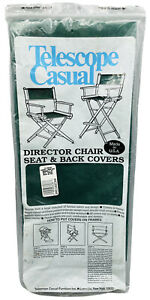 New TELESCOPE CASUAL Canvas DIRECTOR CHAIR Seat and Back Covers GREEN NIP USA