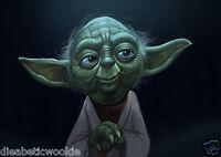 Star Wars Empire Strikes Back Yoda Jedi Master art print movie poster