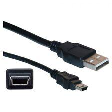 MINI USB 1m 2.0 Cavo di piombo tipo A A 5 PIN B TELEFONO Sat Nav HDD NERA