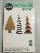Sizzix Thinlits Die Set 3PK-ALBERI Decorativi nuovo in pacchetto 660878