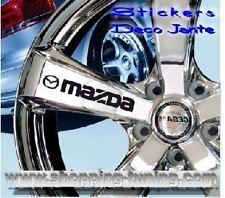 8 STICKER AUTOCOLLANT LOGO JANTE MAZDA 3 5 6 MX RX