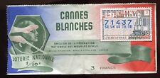 BILLET LOTERIE CANNES BLANCHES TRAIN LOCOMOTIVE