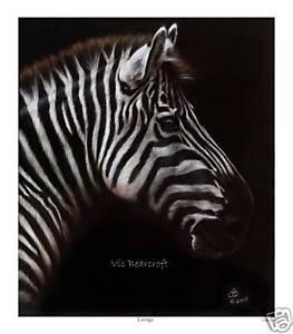 'Tsonga' Limited Edition Fine Art Print, Zebra print
