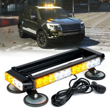 "Xprite White Yellow 14.5"" LED Strobe Light Bar Rooftop Emergency Warning Safety"