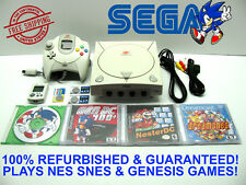 SEGA DREAMCAST SONIC CONSOLE PLAYS NES SNES GENESIS GAMES - NEW BATTERIES