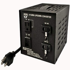 Vct Vt-2000J Japan 100 Volt To Usa 110 Volt Voltage Converter Transformer, 2000