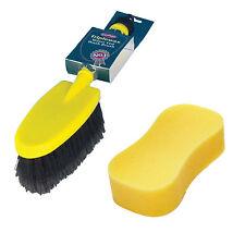 Triplewax Water Fed Hose Car Wash Cleaning Brush Soft Durable + Jumbo Sponge Set
