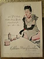 1943 Kathleen Mary Quinlan lipstick Cosmetics makeup Beauty color AD