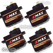 4 Pcs EMAX ES08MDII 12g/ 2.4kg/ .08 sec High-speed Mini Metal Gear Digital Servo