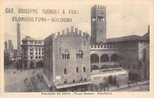 3738) BOLOGNA,PALAZZO RE ENZO, AL VERSO STABILIMENTO D'ORTICOLTURA TUGNOLI.