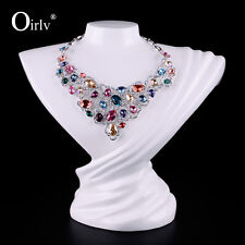 Oirlv Jewelry Necklace Bust Display Stand Busts White Lacquered Resin Mannequin