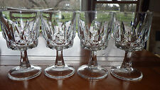 Clear Glass Claret Wine Glasses Stems in Artic by Arcoroc France 4 8oz stems