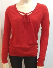 GAP Women Shirred Tie Scoop Neck Sweater NwT- XS