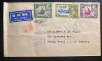 1945 Lohumbo Tanganyika British KUT Airmail  Cover to Darby PA USA
