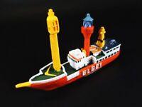 Buque Bote Faro Elbe 1 Hamburgo Estuario Del Elba 12 CM Polyresin Ship Modelo