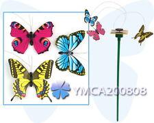 Moda 3 Colorido Mariposas Volteando Energía Solar Décor para Jardín Hogar Casa