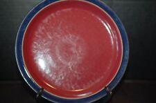 Denby Langley Harlequin Salad Plate Red With Blue Trim