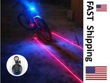 Bicycle Mountain Bike Safety Light - Laser Perimiter Light - Blue Running Light