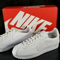 NEW! Nike Classic Cortez Leather 807471-102 White Running Shoes Women's Size 8.5