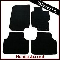 HONDA ACCORD Mk7 2002-2008 Tailored Carpet Car Floor Mats BLACK