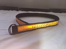 Orange Reflective EMT, Paramedic, NYPD, FDNY, Police,  D- Ring Belts XXL