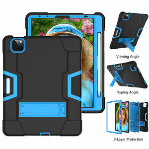 For iPad Pro 11 12.9 Air4 2021 2020 Shockproof Heavy Duty Hard Cover Stand Case