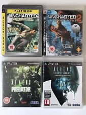 PS3 Game -Aliens Vs Predator+Aliens Colonial Marines+Uncharted+Uncharted 2 (823)