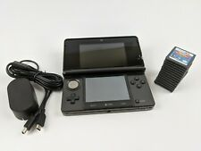 Nintendo 3ds With 14 Games Black Grey Handheld System Console Lot