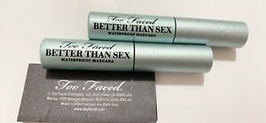 Set Of 2 Too Faced Better Than Sex Waterproof Mascara Travel Size